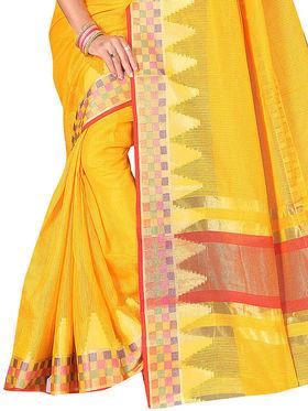 Adah Fashions Yellow South Silk Saree -888-133