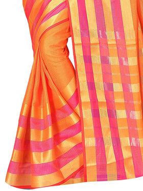 Adah Fashions Orange South Silk Saree -888-134