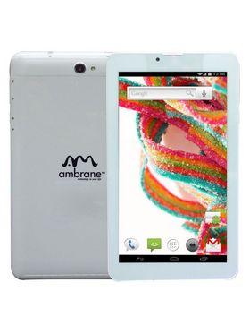 Ambrane A3-770 7 Inch Dual Core Dual Sim Kitkat 3G Calling Tablet - White