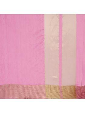 Pink Chanderi  Saree with Chanderi Blouse Piece_ADM-SR-SNH3-10072