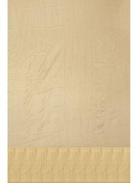 Golden Tussar Silk Zari Work Saree with Blouse Piece_ADM-SR-SNH3-10090