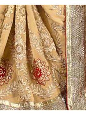 Khushali Fashion Embroidered Jacquard Half & Half Saree_KF01