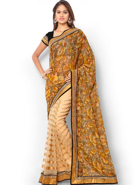 Admyrin Printed Georgette and Net Saree -ab07