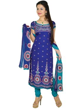 Aadarshini Exclusive 7 Printed French Crepe Dress Material (7FCDM1)