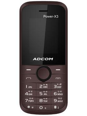 Adcom X3 Power Dual Sim Mobile - Brown & Black