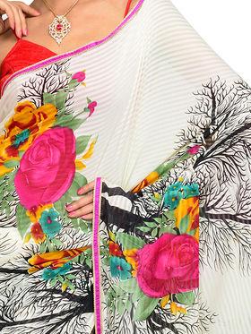 Alluring Set of 7 Printed Georgette Sarees (7G11)