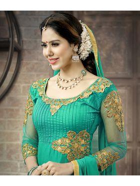 Viva N Diva Semi Stitched Cotton Embroidered Suit Amigo-12002