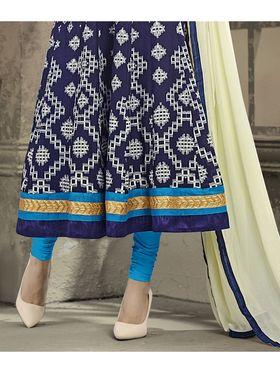 Viva N Diva Semi Stitched Cotton Embroidered Semi Stitched Suits Amigo-12012