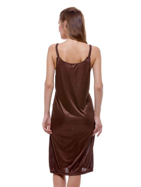 Set Of 3 Being Fab Satin Lycra Solid Nightwear -fbl14