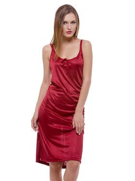 Set Of 3 Being Fab Satin Lycra Solid Nightwear -fbl19