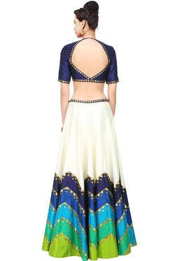 Styles Closet Printed Banglori Silk Semi Stitched Lehenga Choli-Bnd-7015