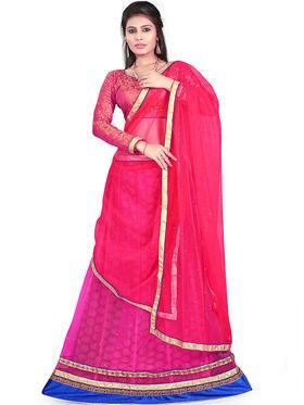 Styles Closet Designer Net & Silk Semi Stitched Lehenga Choli -Bnd-Hl3