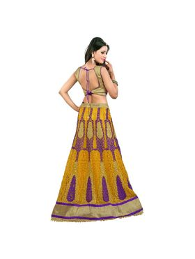 Styles Closet Designer Net Semi Stitched Lehenga Choli -Bnd-Pc5007