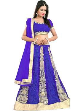 Styles Closet Designer Net Semi Stitched Lehenga Choli -Bnd-Pc5009
