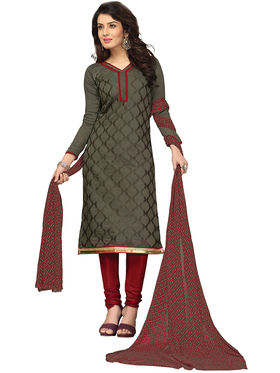 Khushali Fashion Chanderi Embroidered Unstitched Dress Material -BRCRN1008