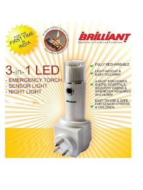 3 in 1 LED Emergency Light with Torch and Night Lamp