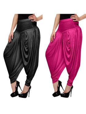 Combo of 2 Arisha Lycra Solid Dhoti Pants -CMBB01