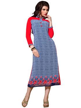 Khushali Fashion Georgette Printed Stitched Kurti -Cnt1751