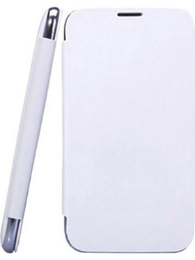 Camphor Flip Cover for Micromax A74 - White