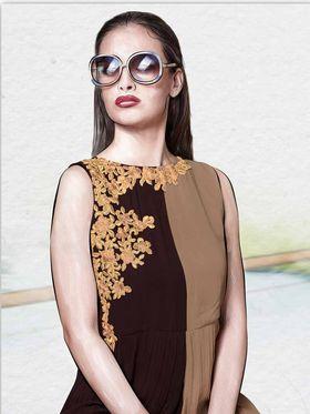 Viva N Diva Pure Viscose Georgette Floral Embroidery Kurtis -Chisel-30