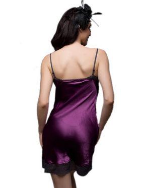 Set of 2 Clovia Blended Plain Nightwear - Purple