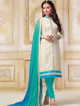 Viva N Diva Net Embroidered Unstitched Suit  Color-Blossom-03-1056