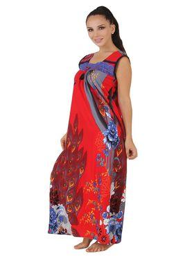 Fasense Shinker Cotton Floral Print Nightwear Long Nighty -DP148A1