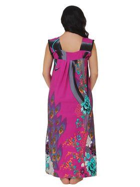 Fasense Shinker Cotton Floral Print Nightwear Long Nighty -DP148B1