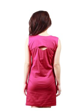 Arisha Cotton Solid Dress DRS1019_DrkPnk