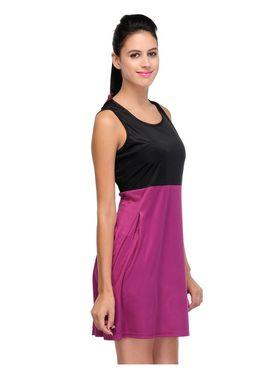 Arisha Viscose Solid Dress DRS1024_Prpl