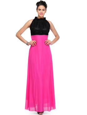 Arisha Viscose Solid Dress DRS1026_Pnk