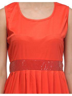 Arisha Viscose Solid Dress DRS1029_Rd