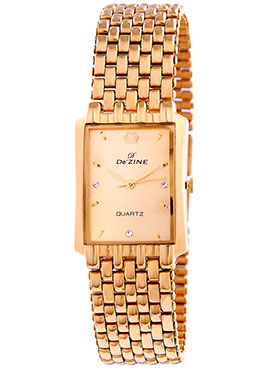 Dezine Wrist Watch for Men - Golden_DZ-GSQ002-GLD-GLD