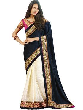 Zoom Fabrics Georgette Embroidered Saree -E7703