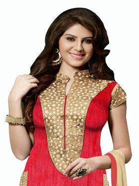 Khushali Fashion Bangalori Silk Embroidered Unstitched Dress Material -ESK601