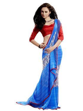 Ethnic Trend Chiffon Printed Saree - Multicolour - 11042