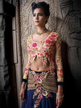 Viva N Diva Banarasi Silk Jacquard Floral Embroidery Lehenga -Ehsaas-606