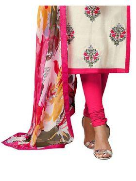 Fabfiza Embroidered Cotton Semi Stitched Salwar Suit_FB-5086