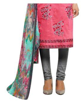 Fabfiza Embroidered Cotton Semi Stitched Salwar Suit_FB-5091
