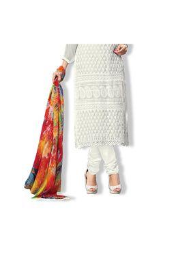 Fabfiza Embroidered chiffon Semi Stitched Straight Suit_FBRH-1002