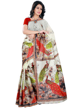 Florence Art Silk Printed  Sarees FL-10981