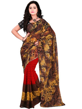 Florence Faux Georgette  Printed  Sarees FL-11008