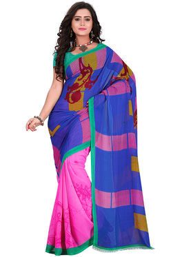 Florence Faux Georgette  Printed  Sarees FL-11009