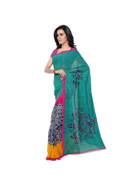 Florence Printed Faux Georgette Sarees -FL-11217