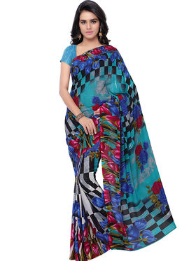 Florence Printed Faux Georgette Sarees -FL-11236