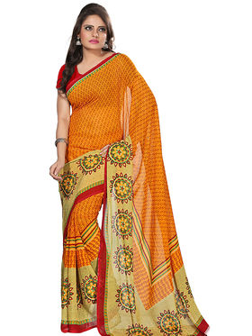 Florence Faux Georgette  Printed  Sarees FL-3173-D