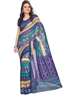 Florence Faux Georgette  Printed  Sarees FL-3179-C