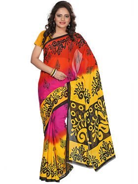 Florence Faux Georgette  Printed  Sarees FL-3185-A