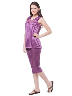 Pack of 4 Fasense Satin Plain Nightwear - DP117 A