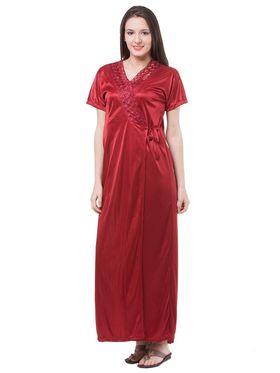 Pack of 4 Fasense Satin Plain Nightwear - DP117 C